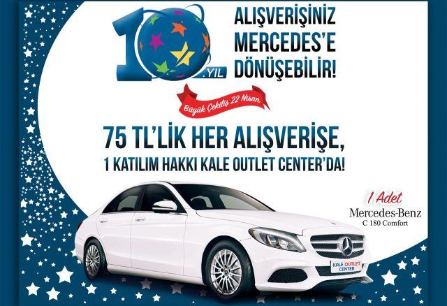 KALE OUTLET CENTER'dan Müşterilerine Hediye Mercedes
