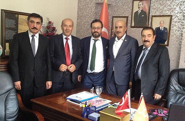 Sivas'ın Altın İsimleri Mehmet Kaya'yı Ziyaret Etti