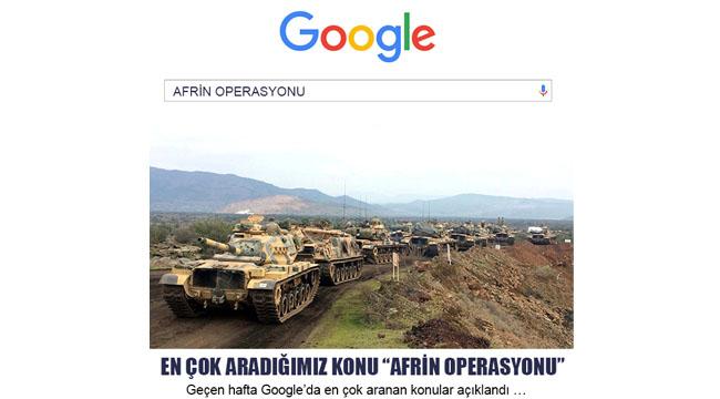 """EN ÇOK ARADIĞIMIZ KONU """"AFRİN OPERASYONU"""""""