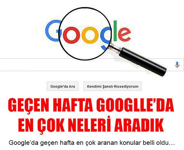 Geçen hafta Google'da en çok aranan konular açıklandı