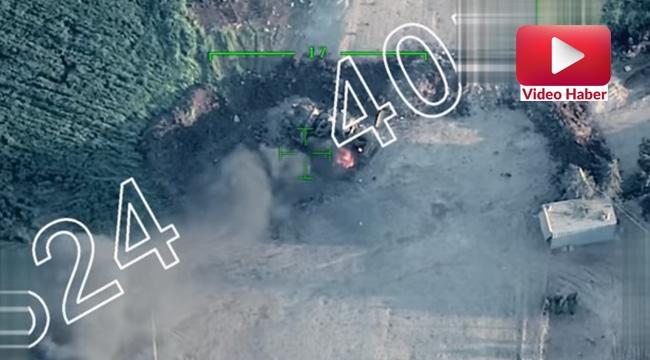 Afrin'de Terör Noktaları Bombalanıyor