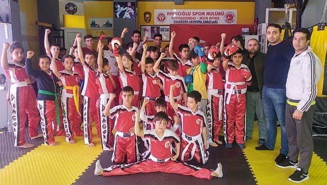 Mehmet Yalçın'dan, Minik Kick Boksculara Kuşak Sınavı