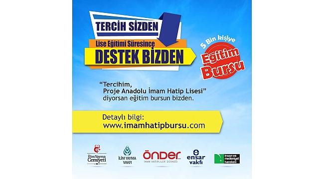 Tercihim Proje  Anadolu İmam Hatip! diyen 5 bin kişiye burs