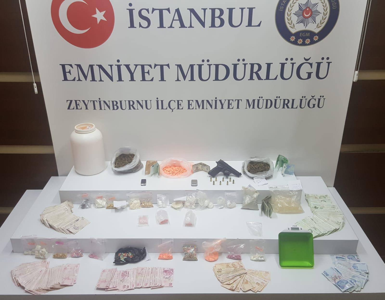 Zeytinburnu Emniyeti Uyuşturucu çetelerini operasyonla çökertti