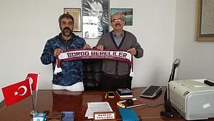 Adnan Ateşten Mustafa Akbabaya tebrik ziyareti