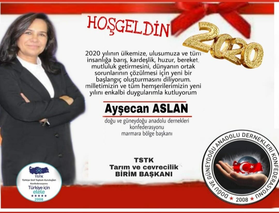 Ayşecan Aslan'dan yeni yıl için  birlik beraberlik mesajı geldi