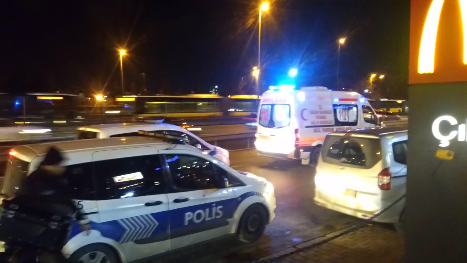 Merter'de Motorsiklet Terörü 1 Polis Yaralı