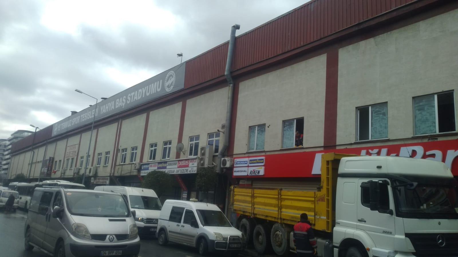 Mimar Yahya baş stadı'nda tahliyeler başladı