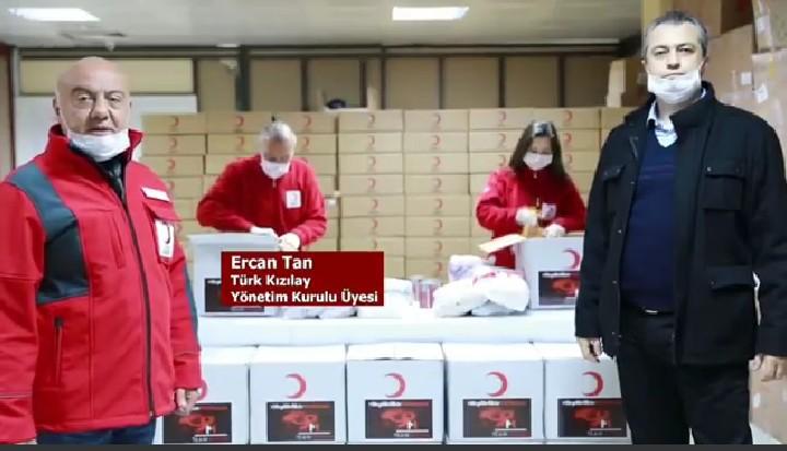 Melih Demiral'ın bağışı Kızılay ve Getir aracılığıyla ihtiyaç sahiplerine teslim ediliyor