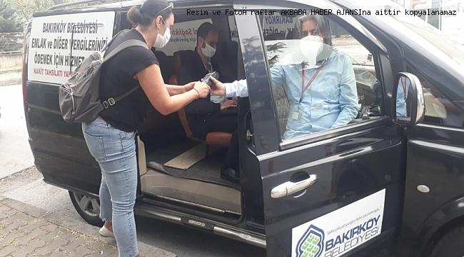 BAKIRKÖY'DE VERGİ İÇİN SALGIN TEDBİRİ: 'MOBİL VERGİ ARACI'