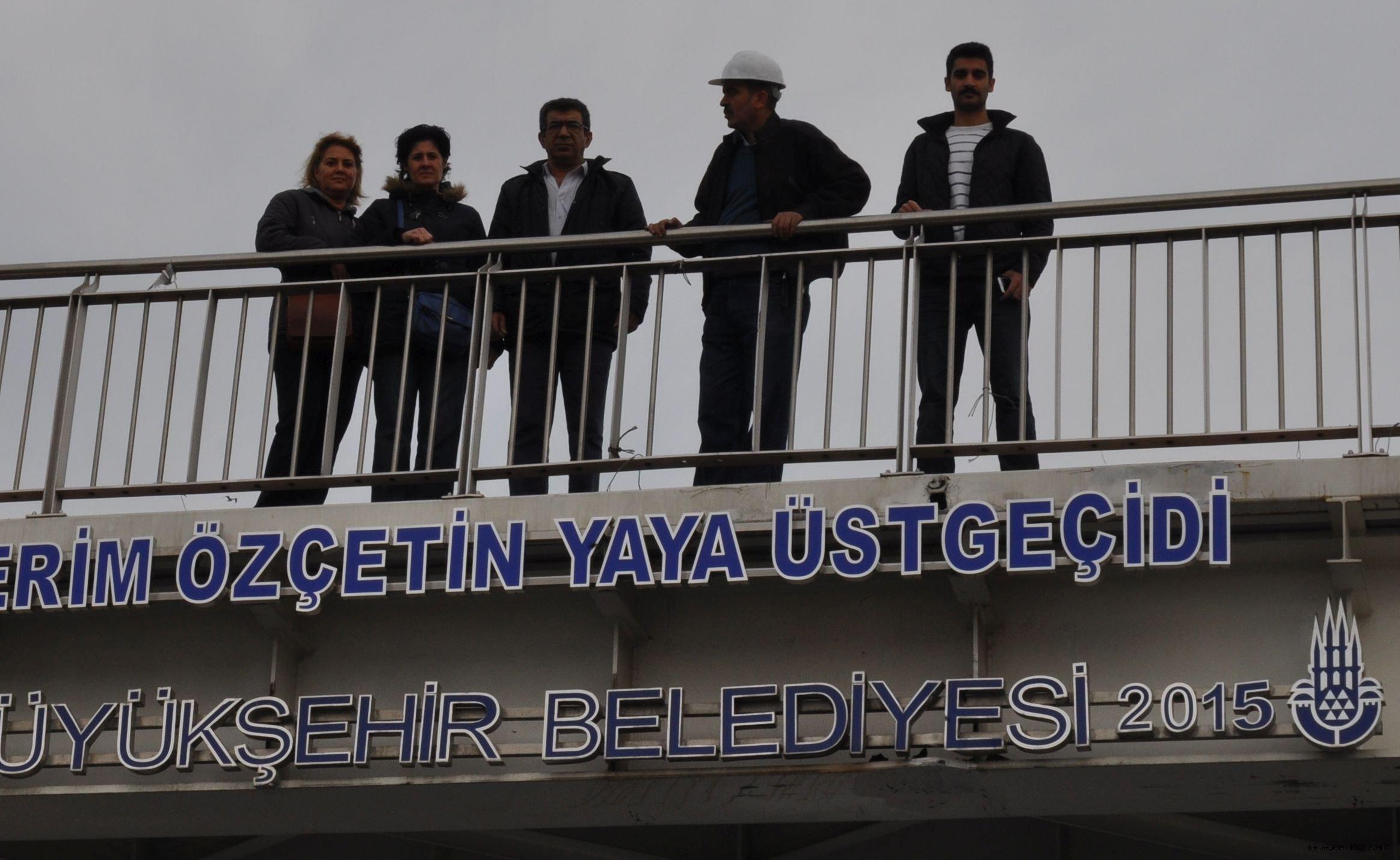 İBB Yaya Üstgeçide Yapıp Mustafa Kerim Özçetin İsmini Verdi