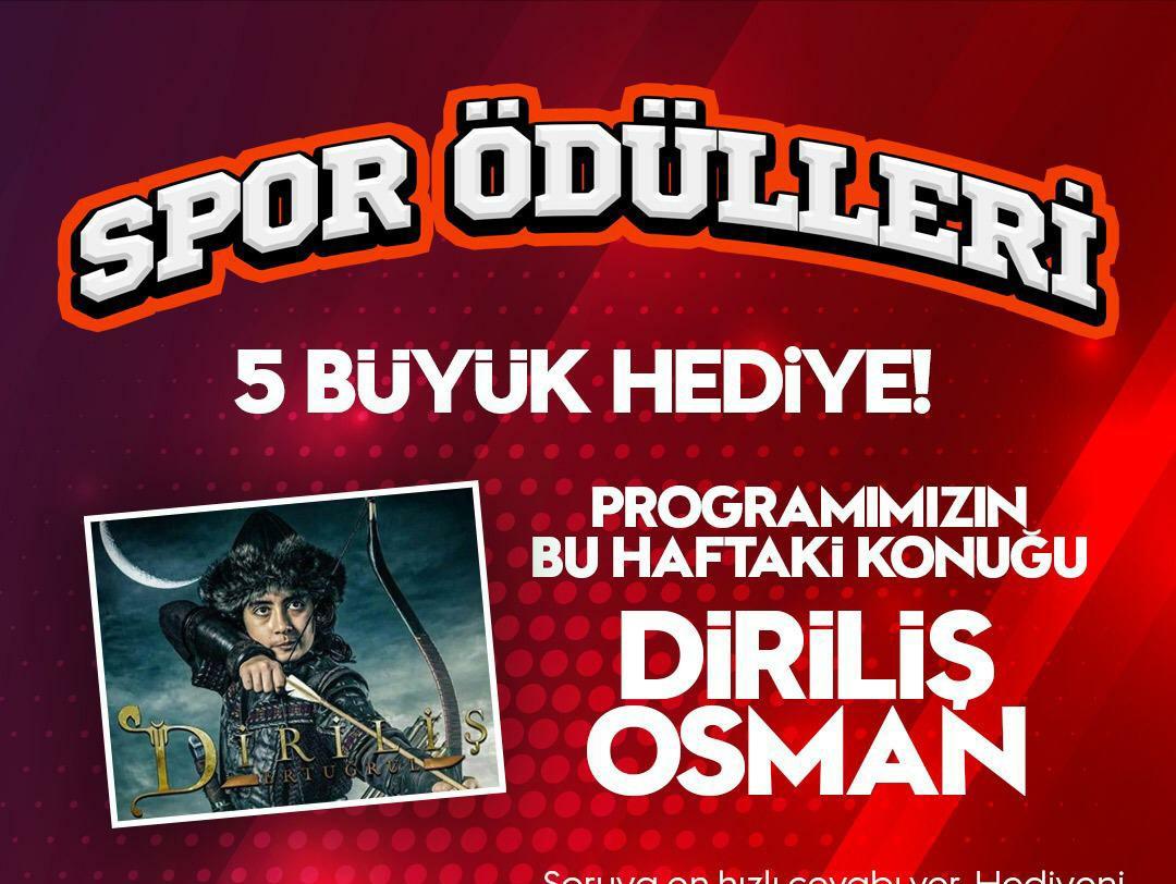 Diriliş Osman Spor Ödülleri yarışmasına heyecan katacak