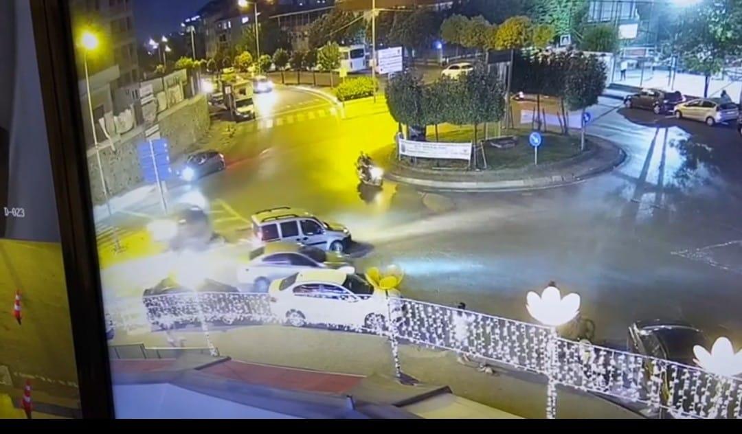 Acemi kadın sürücünün kaza anı görüntüleri ortaya çıktı
