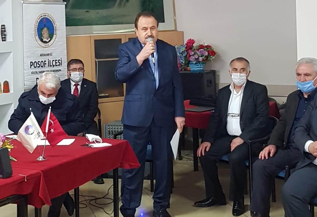Ardahan Posoflular Kongrede Aydın Karadağ'a 5. kez güven oyu verdi