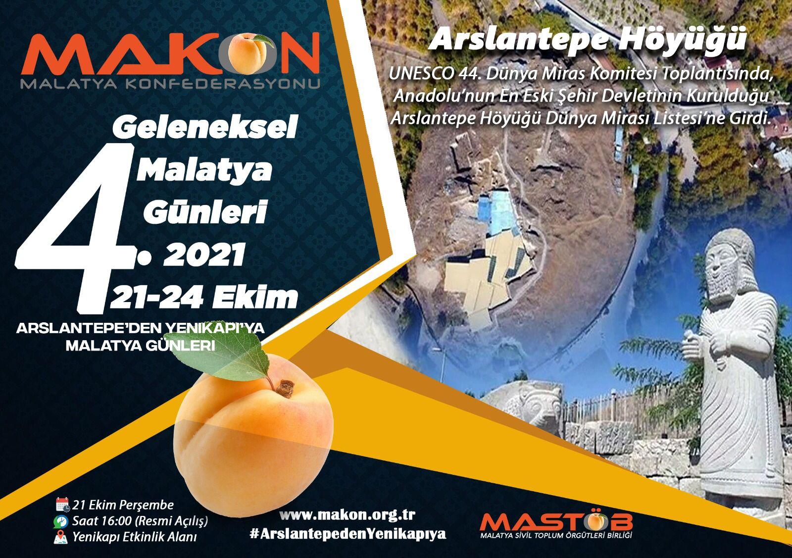 Aslantepe' den Yenikapı'ya 21 -24 Ekim aradı Malatya'lılar İstanbul'da