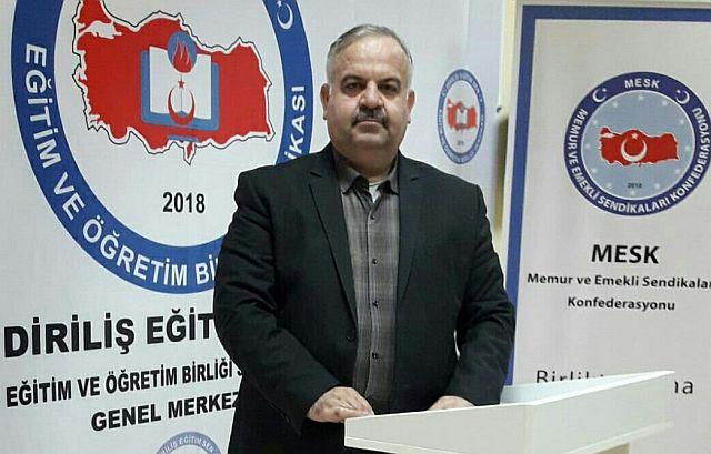 Diriliş Eğitim Sen Mehmet Nuri Kaynar Milli birlik ve beraberliğimizin teminatı öğretmenlerdir