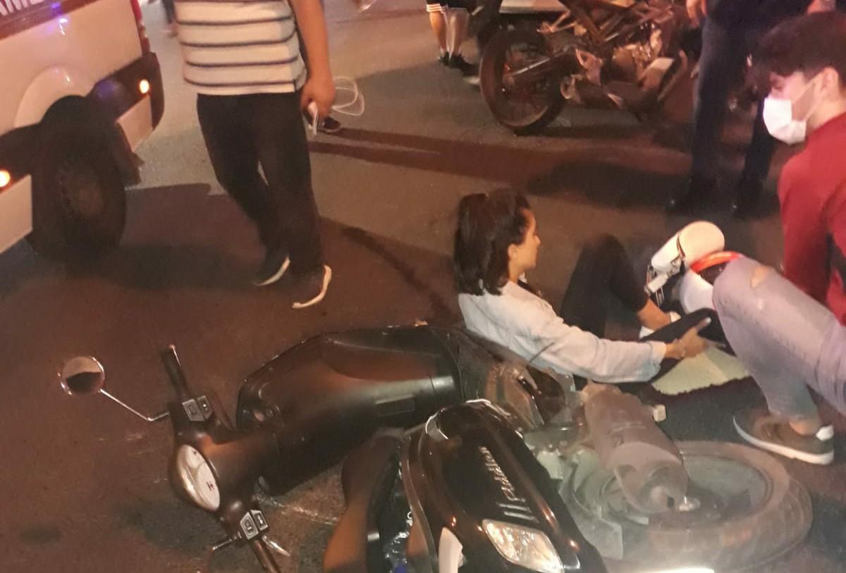 Güngören'de Motosiklet kazası az kalsın Can yakıyordu