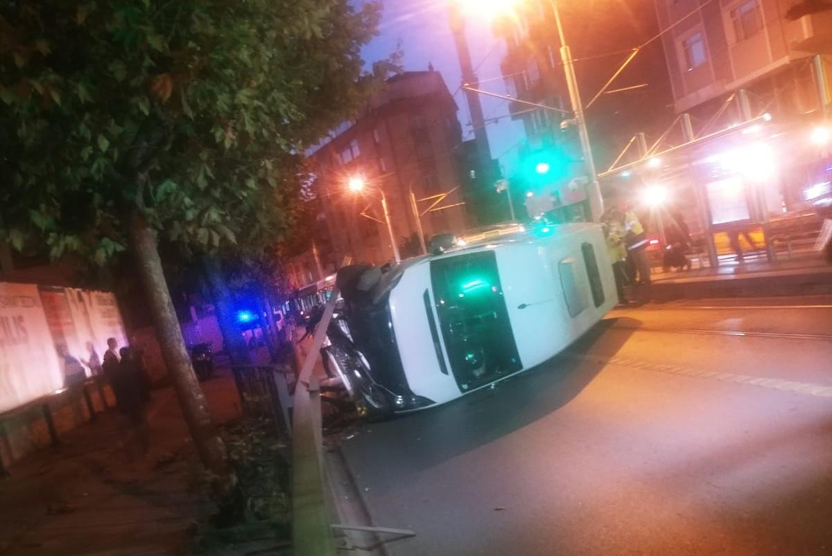 Güngören'de Tramvay durağındaki Facia kıl payı önlendi