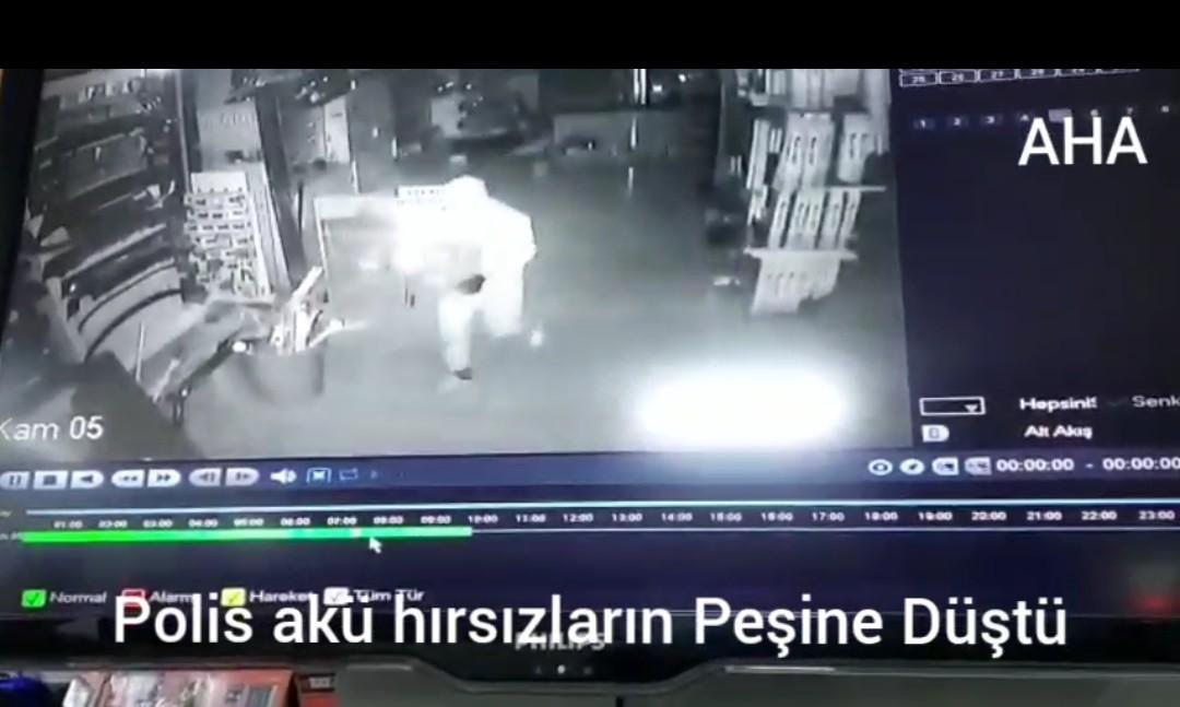 Güngören'de Polis akü hırsızların peşinde